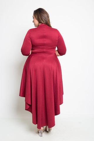Plus Size Long Body Layered Dress