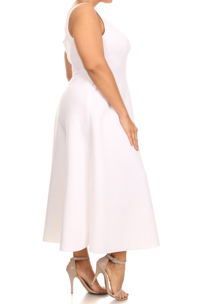 Plus Size Lovely Empire Waist Skater Maxi Dress
