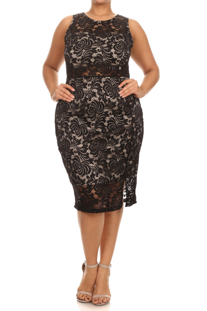 Plus Size Pretty Victorian Lace Dress