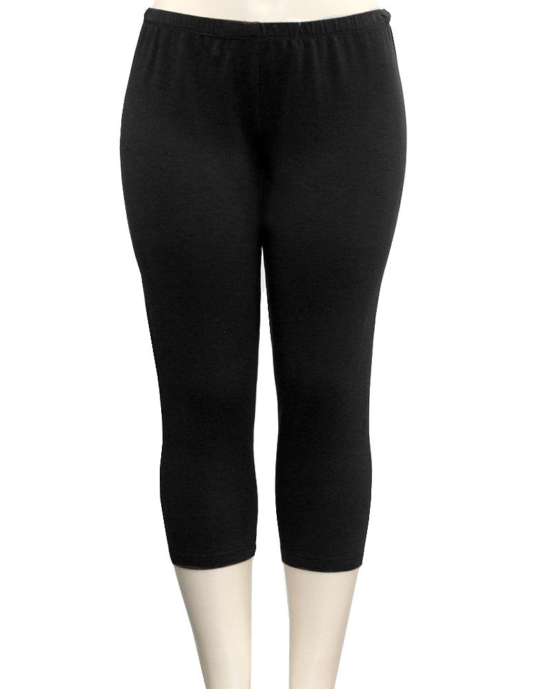 Cotton Soft Black Leggings