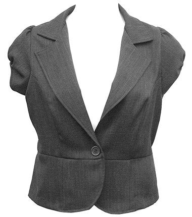 Sleeveless Grey Blazer