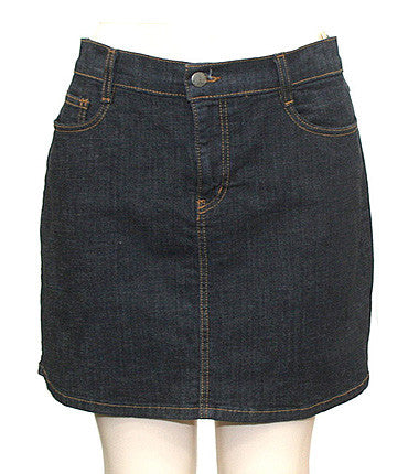 Rugged Dark Denim Skirt
