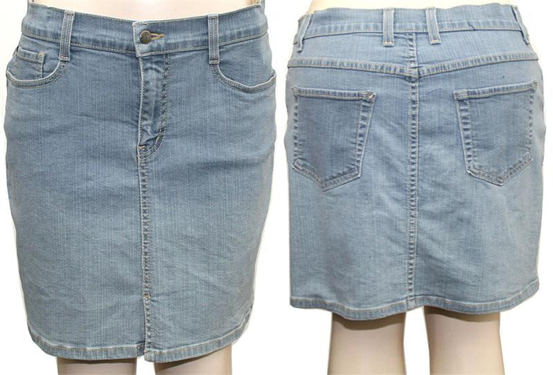 Light Blue Denim Skirt