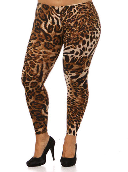 Plus Size Sexy Leopard Leggings