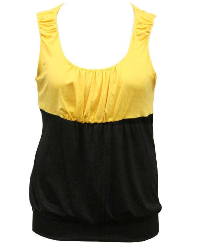 Two Tone Bubble Yellow Top