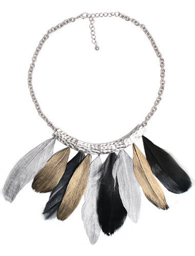 Gorgeous Greek Goddess Feather Necklace