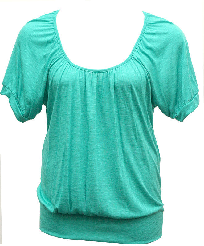 Sexy Loose Teal Blouse