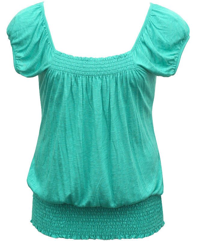 Sexy Loose Hot Teal Blouse