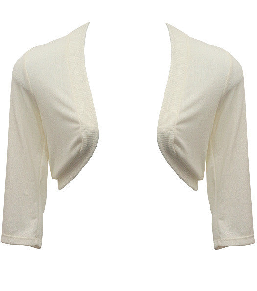 Plus Size Adorable Knit Shrug White Top