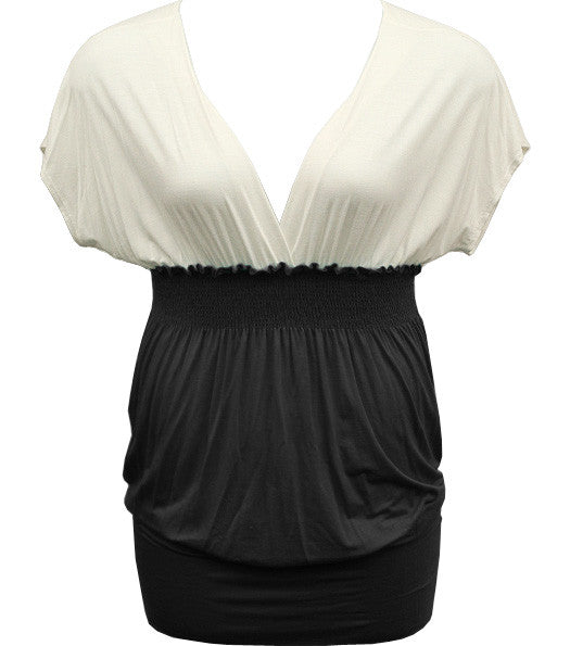 Beautiful Two Tone Diva Black Top