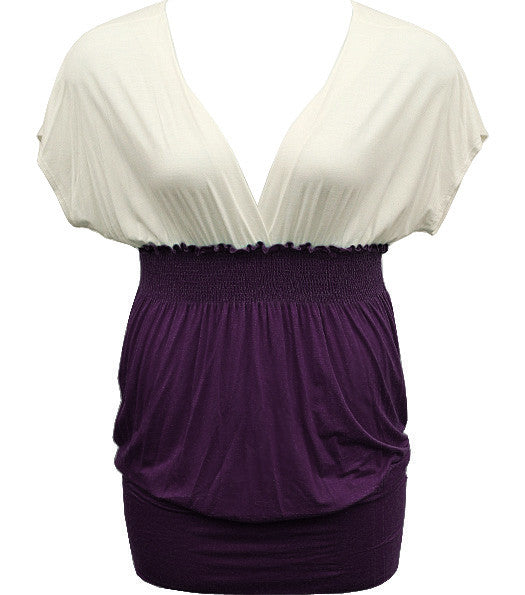 Beautiful Two Tone Diva Purple Top