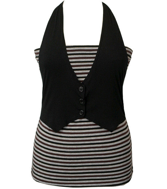 Trendy Shirt Halter Vest Top