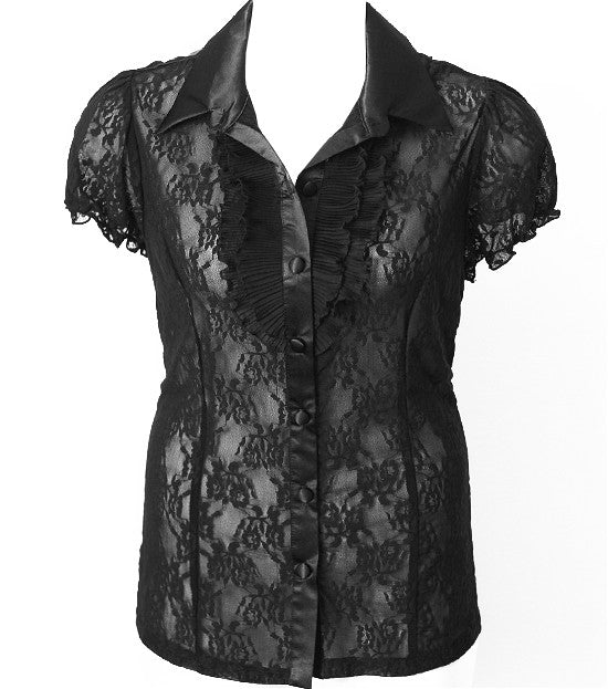 Beautiful Lace Ruffled Blouse