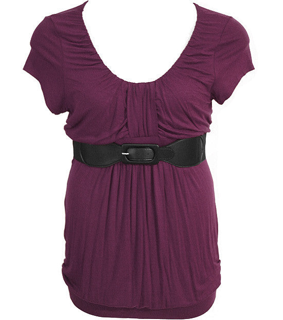 Plus Size Fabulous Diva Belt  Purple Top