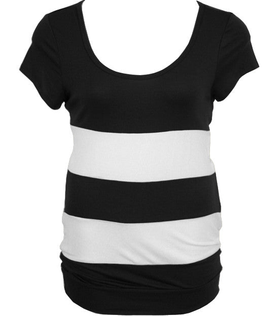 Plus Size Sexy Fun Stripe Black Top