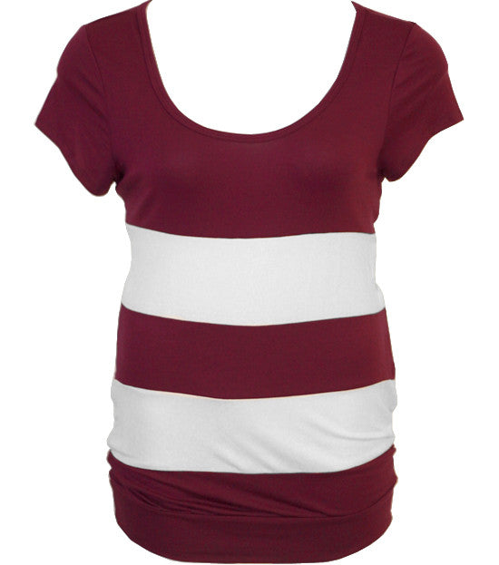 Plus Size Sexy Fun Stripe Red Top