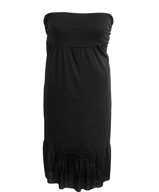 Plus Size Soft Sexy Black Tube Dress