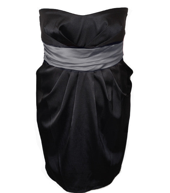 Plus Size Diva Sexy Charcoal Tube Dress