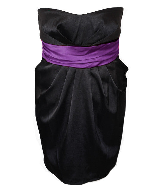 Plus Size Diva Sexy Purple Tube Dress