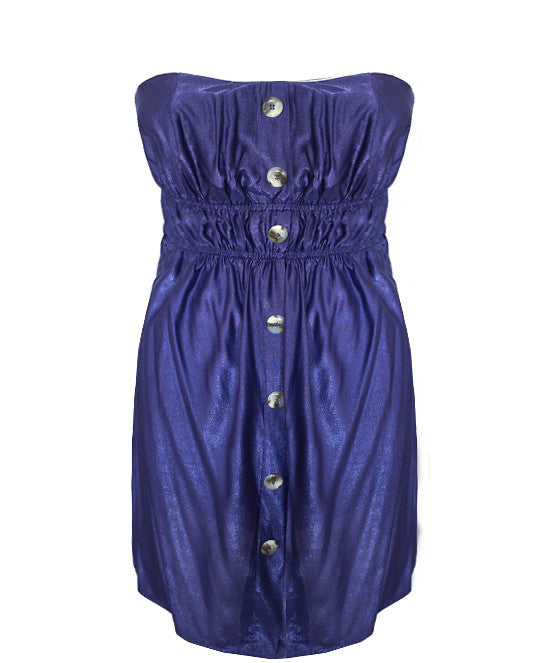 Button Down Purple Tube Dress