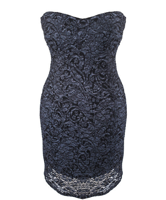 Elegant Layered Lace Tube Dress