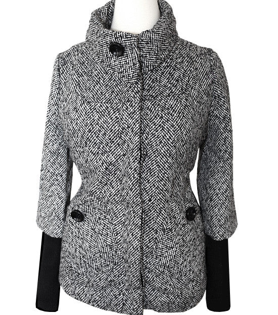 Plus Size London Diva Button Up Coat