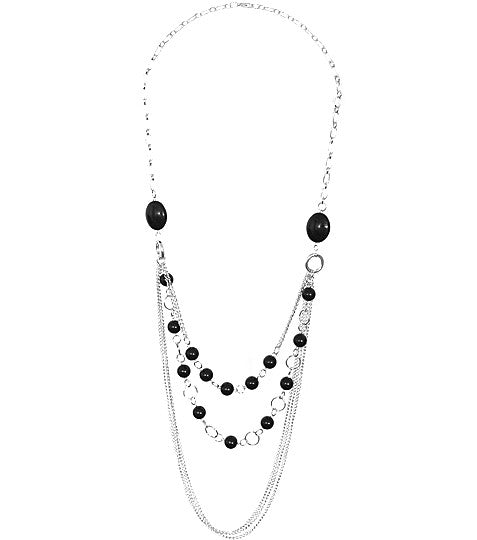 Beaded Cascading Chain Necklace