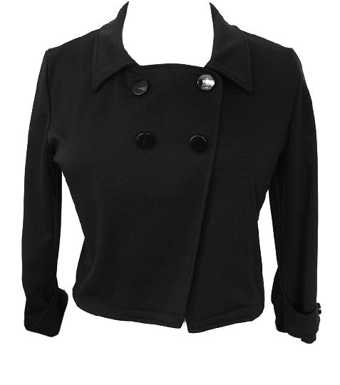 Adorable Short Black Peacoat