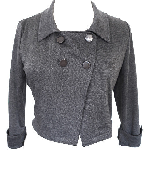 Adorable Short Grey Peacoat