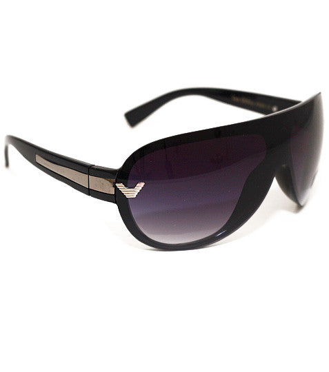 Designer Shield Black Sunglasses