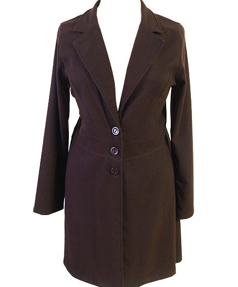 Plus Size Downtown City Girl Brown Coat