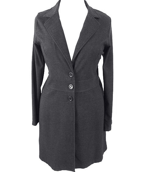 Plus Size Downtown City Girl Grey Coat