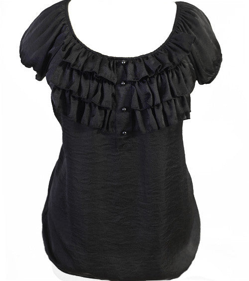 Plus Size Ruffled Sexy Blouse