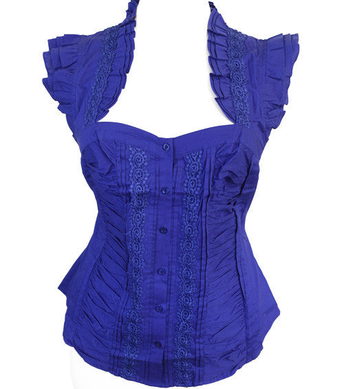 Plus Size Diva Flare Blue Top