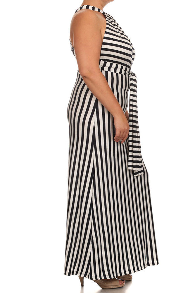 Plus Size Let's Sail Away Striped Maxi Dress
