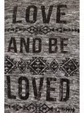 Plus Size Love And Be Loved Knitted Black Top