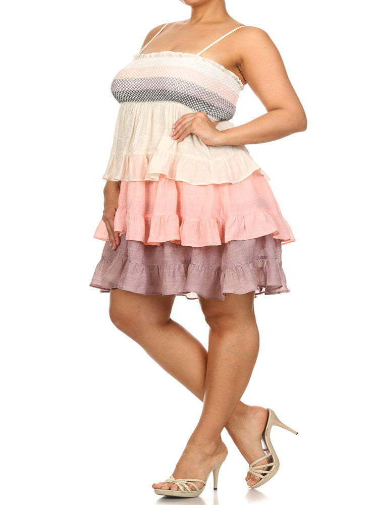 Plus Size Sweet Tiered Baby Doll Dress