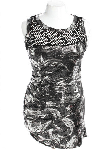 Plus Size Sparkling Platinum Silver Dress
