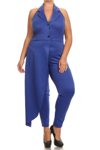 New York City Side Cape Plus Size Jumpsuit