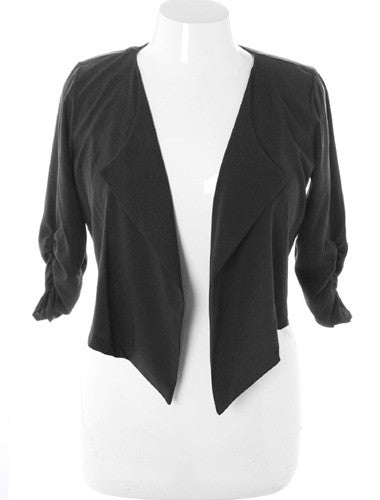 Plus Size Designer Trim Crop Blazer