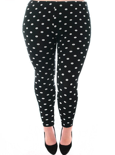Plus Size Sexy Polka Dot Leggings