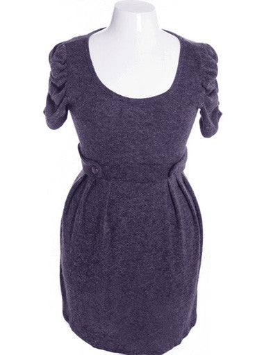Plus Size Adorable Soft Ruffled Violet Dress