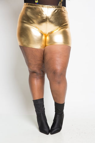 Plus Size Sleek Shining Shorts
