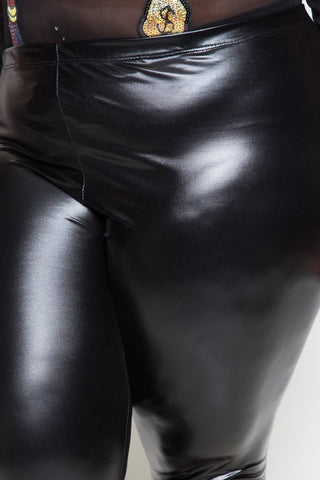 Plus Size Sleek Shining Leggings