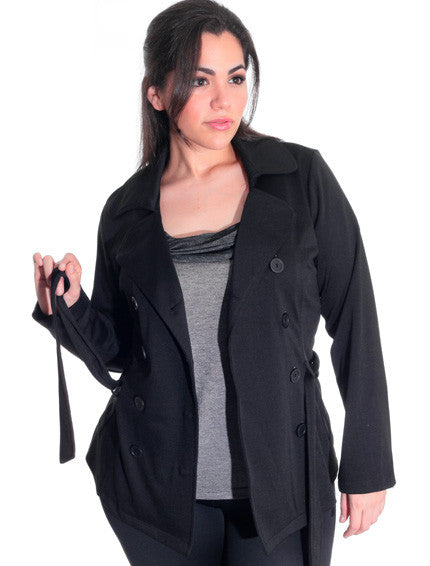 Plus Size New York Trench Coat Jacket