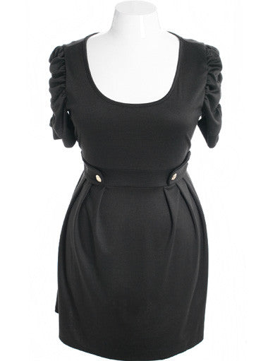 Plus Size Beautiful Elegant Ruffled Black Dress