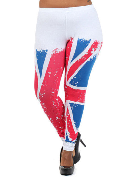 Plus Size London Look White Leggings