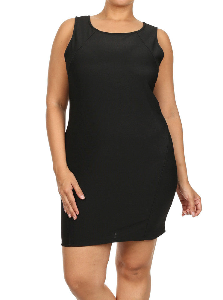 Plus Size Night City Lights Black Dress