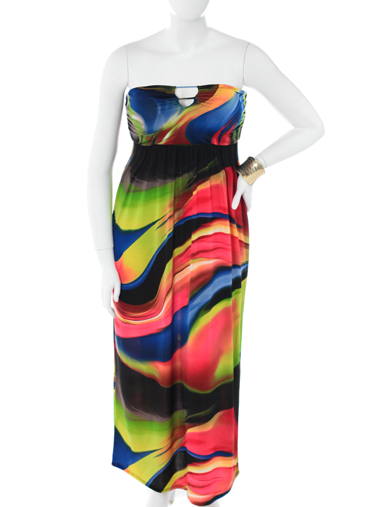 Plus Size Fabulous Hued Maxi Dress