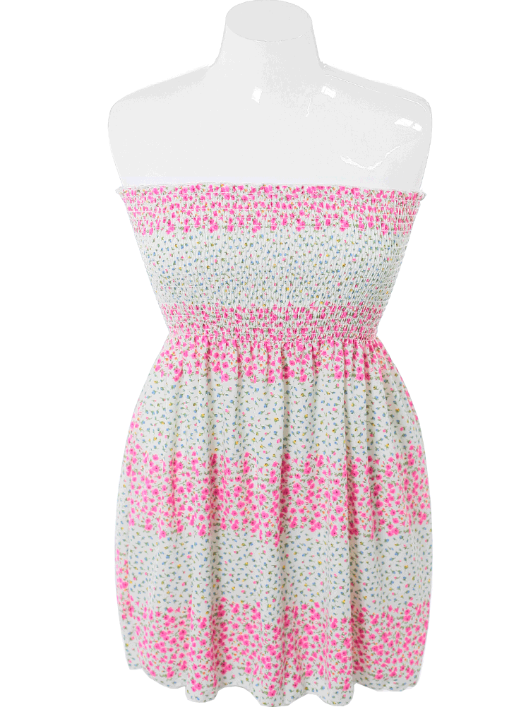 Plus Size Floral Daze Baby Doll Pink Dress